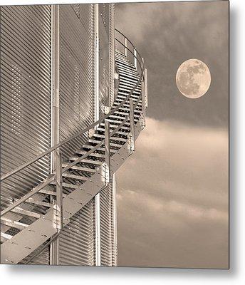 Agri Moon Metal Print