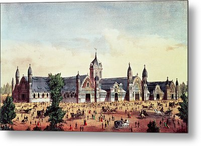 Agricultural Hall, Grand United States Centennial Exhibition, Fairmount Park, Philadelphia Metal Print by American School