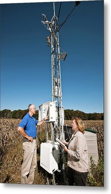 Agricultural Weather Station Metal Print