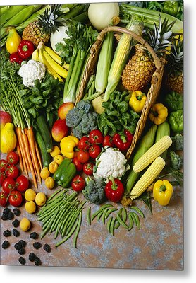 Agriculture - Mixed Fruit Metal Print by Ed Young