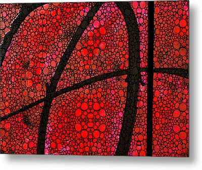 Ah - Red Stone Rock'd Art By Sharon Cummings Metal Print by Sharon Cummings