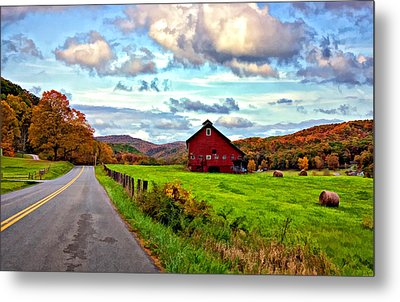 Ah...west Virginia Painted Metal Print by Steve Harrington