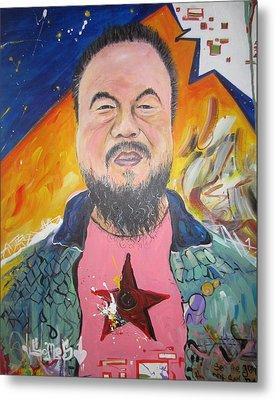 Ai Weiwei Metal Print by Erik Franco