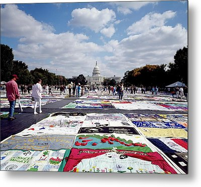 Aids Quilt Metal Print by Carol M. Highsmith Archive, Library Of Congress