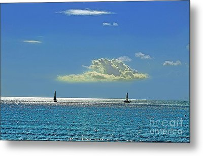 Metal Print featuring the photograph Air Beautiful Beauty Blue Calm Cloud Cloudy Day by Paul Fearn