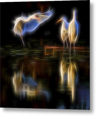 Metal Print featuring the digital art Air Elementals 2 by William Horden