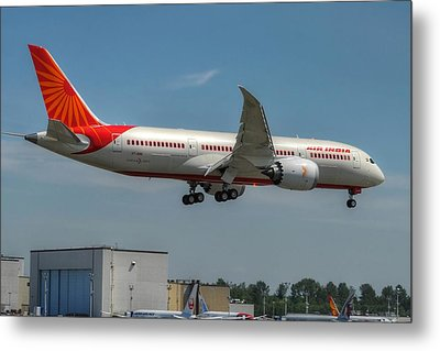 Metal Print featuring the photograph Air India 787 by Jeff Cook