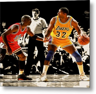 Air Jordan On Magic Metal Print by Brian Reaves