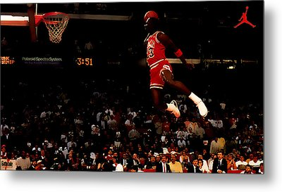 Air Jordan In Flight Metal Print