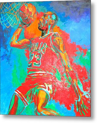 Air Jordan Metal Print by Steven Mockus