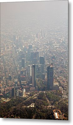 Air Pollution In Mexico City Metal Print by Jim West