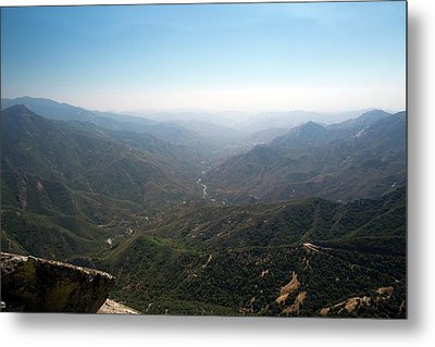 Air Pollution Over Sequoia National Park Metal Print
