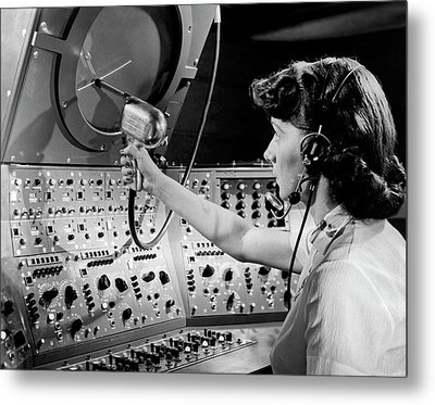 Air Traffic Control System Metal Print by Underwood Archives