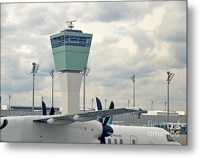 Air Traffic Control Tower Metal Print by Sami Sarkis