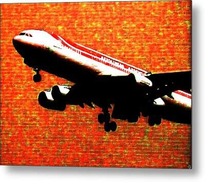 Airbus 340 Metal Print by Marcello Cicchini
