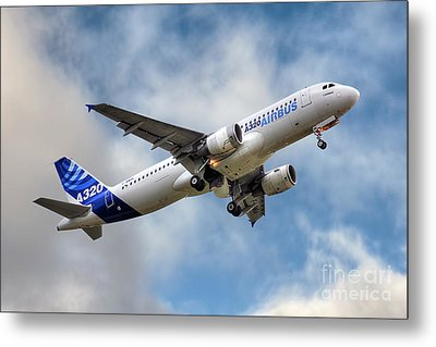 Airbus A320 Metal Print by Steve H Clark Photography