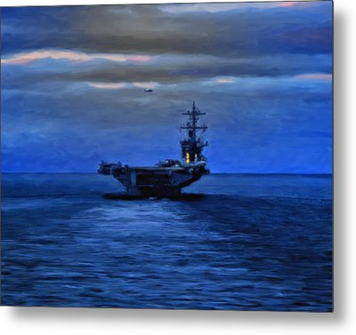 Aircraft Carrier Metal Print by Michael Pickett