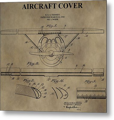 Aircraft Cover Patent Metal Print