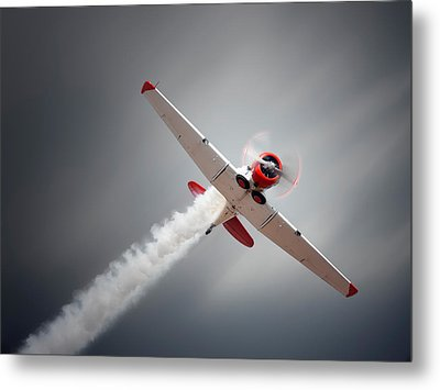 Aircraft In Flight Metal Print by Johan Swanepoel