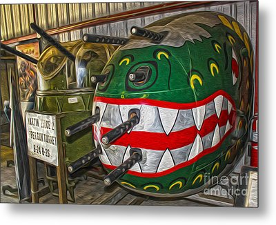 Airplane Nose Gun Turret Metal Print by Gregory Dyer