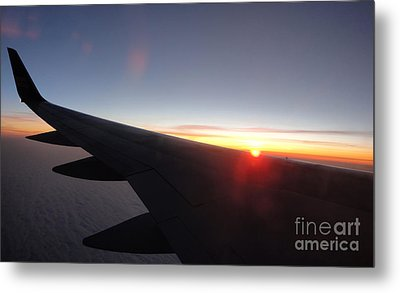 Airplane Wing - 01 Metal Print by Gregory Dyer