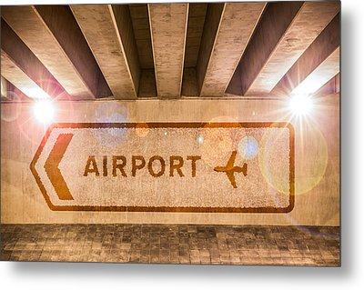Airport Directions Metal Print