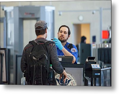 Airport Security Check Metal Print by Jim West
