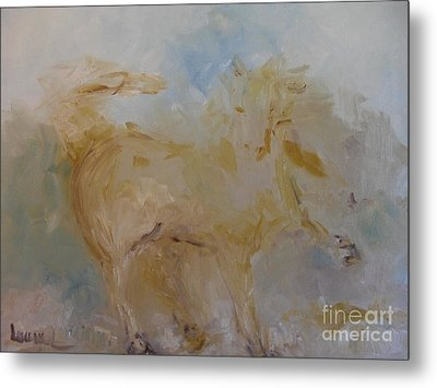 Metal Print featuring the painting Airwalking by Laurie L