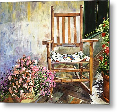 Aix Country Patio Metal Print by David Lloyd Glover