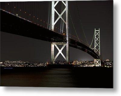 Akashi Kaikyo Bridge Japan Metal Print by Daniel Hagerman