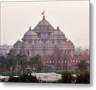 Akshardham Temple - New Delhi India Metal Print