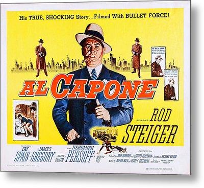 Al Capone, Us Lobbycard, Rod Steiger Metal Print