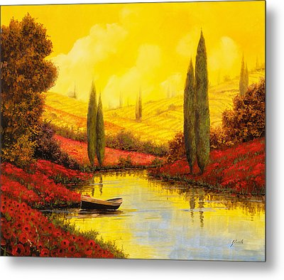 Al Tramonto Sul Torrente Metal Print by Guido Borelli
