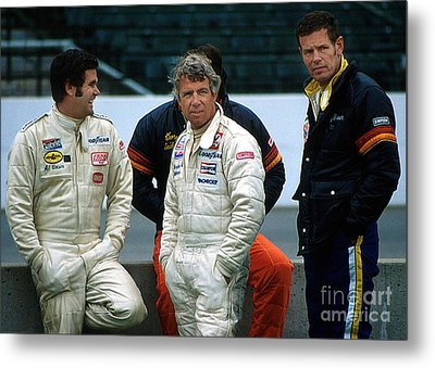 Al Unser Sr. Gordon Johncock And Bobby Unser Together At Indy Metal Print