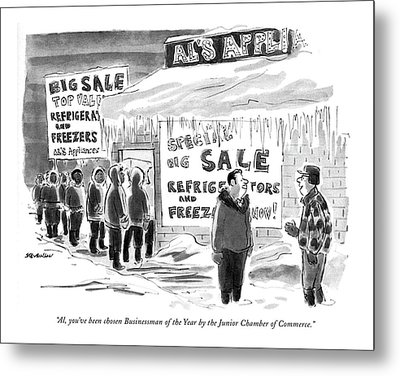 Al, You've Been Chosen Businessman Of The Year Metal Print