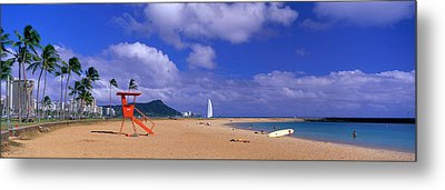 Ala Moana Beach Honolulu Hi Metal Print