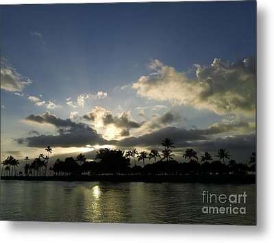 Metal Print featuring the photograph Ala Wai Skies by Laura  Wong-Rose