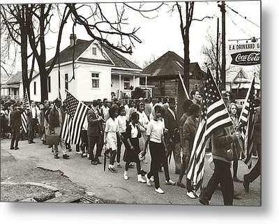 Alabama Civil Rights March Metal Print by Peter Pettus