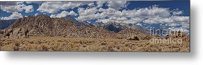Alabama Hills And Eastern Sierra Nevada Mountains Metal Print by Peggy Hughes