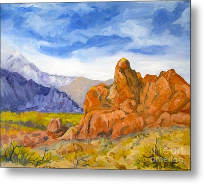 Alabama Hills Looking North Metal Print