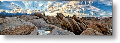 Alabama Hills Sunset Metal Print by Cat Connor