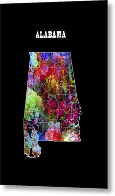 Alabama State Metal Print by Daniel Hagerman