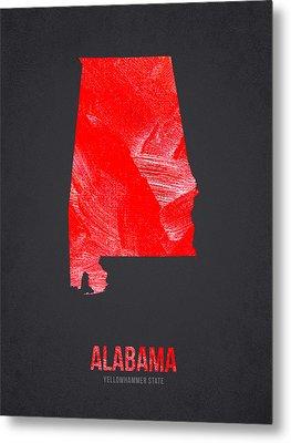 Alabama Yellowhammer State Metal Print by Aged Pixel