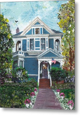 Alameda 1887 - Queen Anne Metal Print by Linda Weinstock