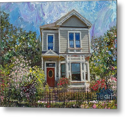 Alameda 1892 Queen Anne Metal Print by Linda Weinstock