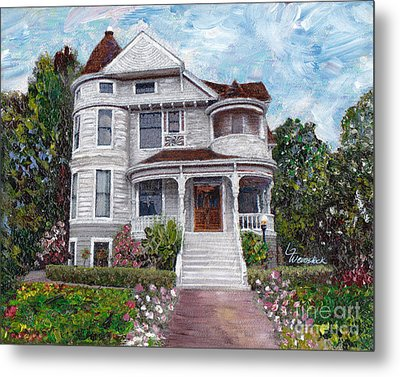 Alameda 1897 - Queen Anne Metal Print by Linda Weinstock