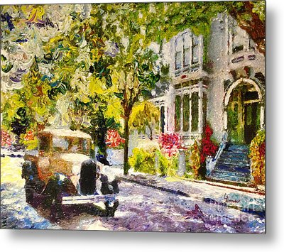 Alameda  Afternoon Drive Metal Print by Linda Weinstock