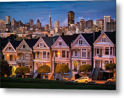 Alamo Square - Painted Ladies Metal Print by Alexis Birkill