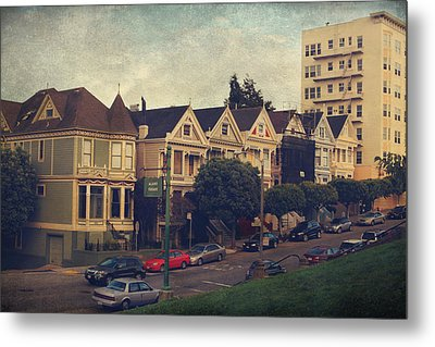 Alamo Square Metal Print by Laurie Search
