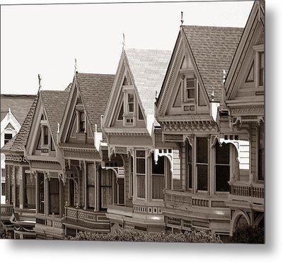 Alamo Square - Victorian Painted Ladies 2009 Metal Print by Connie Fox